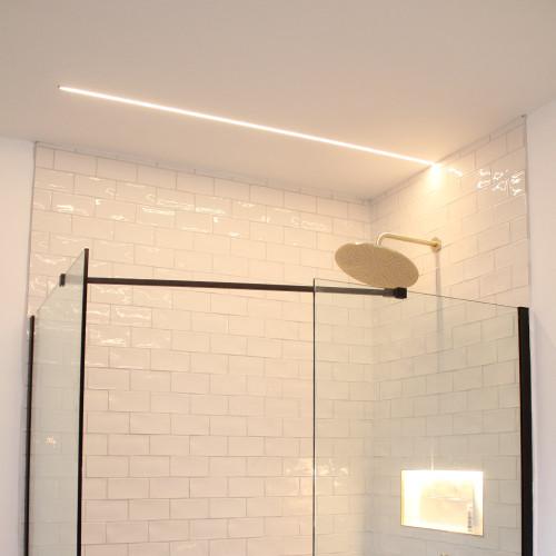 24V Plaster-In Light Bar, 1m, Warm White 3000K, IP54