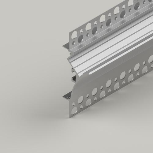Coving Plaster-in Aluminium Profile, 2 Metre Length