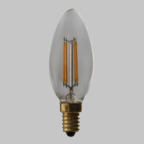 C35 LED Filament Bulb, Clear Glass, Dimmable