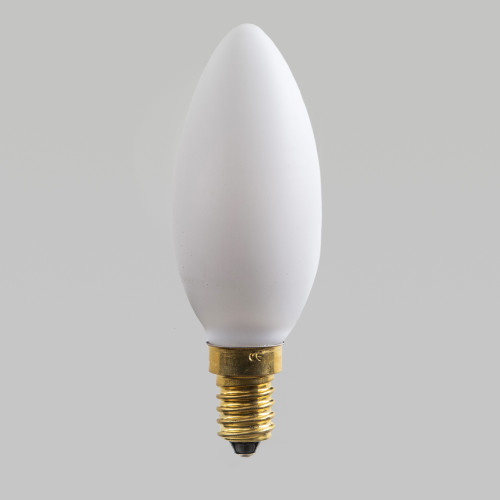 Irlam C35 LED Filament Bulb, Egg Shell Glass, Dimmable