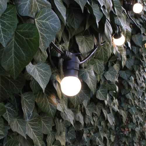 20 metre, 40 Golf Ball Lamp Festoon String, 500mm Spacing with 40 bulbs, B22, Warm White4