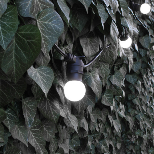 20 metre, 40 Golf Ball Lamp Festoon String, 500mm Spacing with 40 bulbs, B22, Cool White4