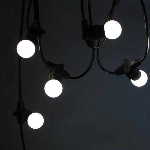 50 metre, 50 Golf Ball Lamp Festoon String, 1000mm Spacing with 50 bulbs, B22, Cool White4