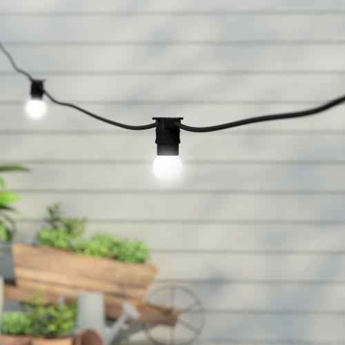 50 metre, 50 Golf Ball Lamp Festoon String, 1000mm Spacing with 50 bulbs, B22, Cool White2