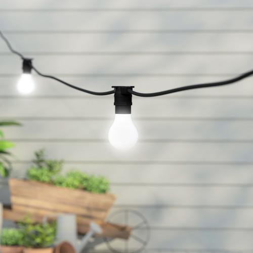 50 metre, 50 GLS Lamp Festoon String, 1000mm Spacing with 50 bulbs, B22, Cool White2