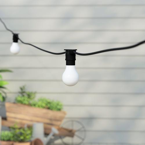 50 metre, 50 GLS Lamp Festoon String, 1000mm Spacing with 50 bulbs, B22, Cool White1