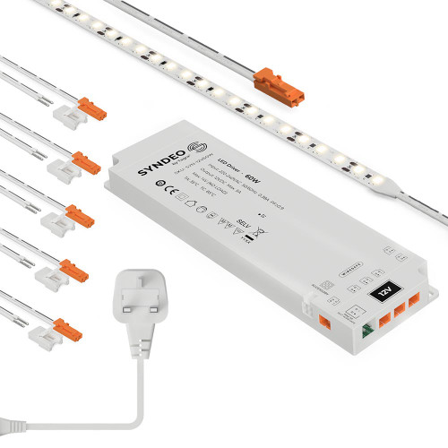 Syndeo by Tagra® 10W 12V 120 LED Tape Kit 3000K Warm White, 5 Metres