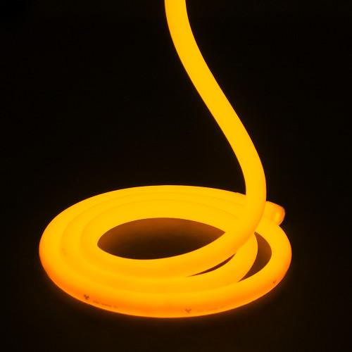 Essential LED Neon Flex , 18mm, Circular 360°, Amber, Sold Per Metre