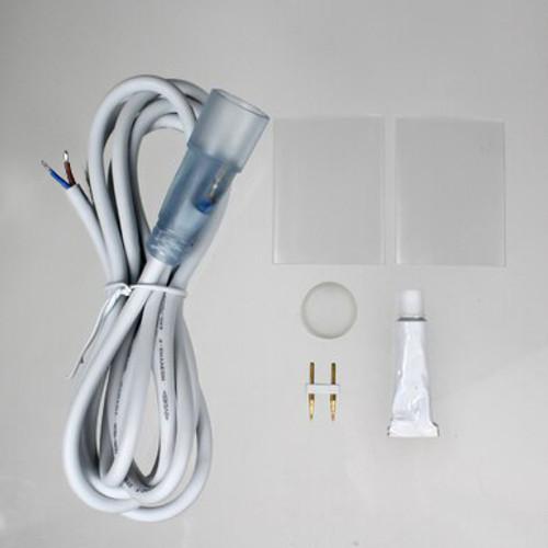 Slimline Water Resistant Single Colour 24v Circular Neon Flex Accessories Pack, IP65