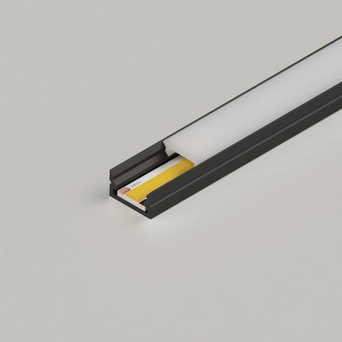 Mini Aluminium Profile 12x7mm, Black, 2 Metre Length