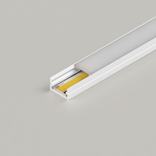 Mini Aluminium Profile 12x7mm, White, 2 Metre Length