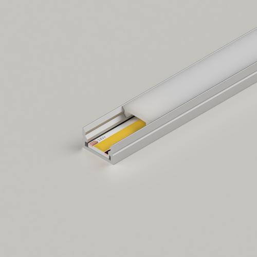 Mini Aluminium Profile 12x7mm, Silver, 2 Metre Length