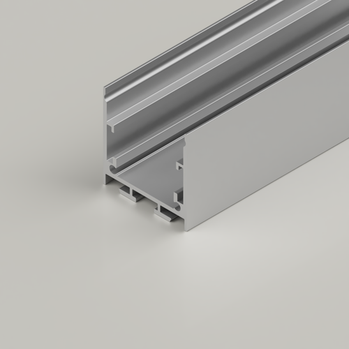 Surface Mounted Channel 3535, Silver, 2 Metre Length