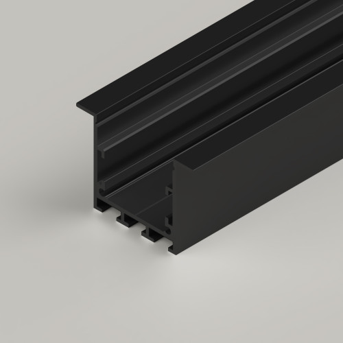 Recessed Connectable Channel 3535, Black 2 Metre Length