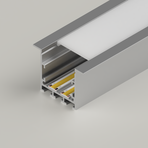 Recessed Connectable Channel 3535, Silver, 2 Metre Length