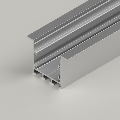 Recessed Connectable Channel 3535, Silver, 3 Metre Length