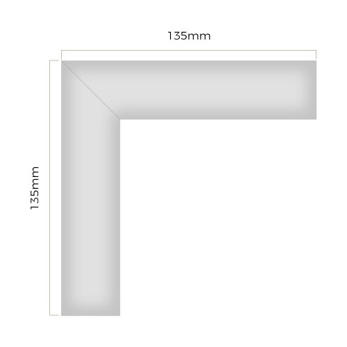 L Shaped Connector Kit for Recessed 3535 - Single - 135x135mm