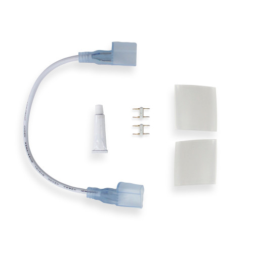 Top View Neon White and Single Colour Connector Kit IP65