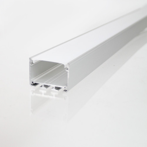 3043 APIS Connectable Suspendable Aluminium Channel, Silver, 2 Metre Length
