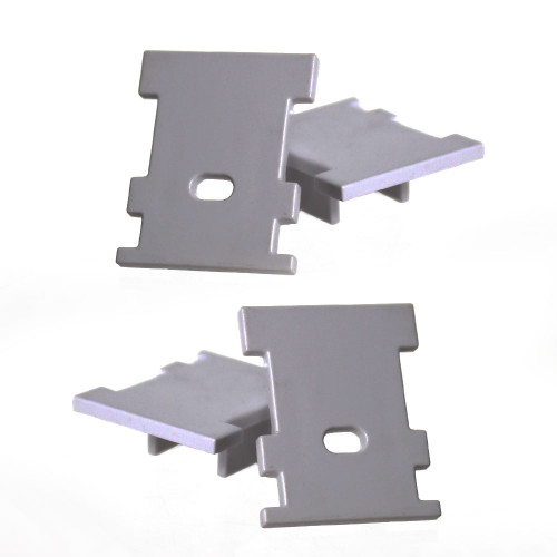 End Caps for Extra Deep IP65 Walkover LED Aluminium Profile, Dark Grey