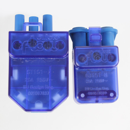 3 Pin Flow Fast Fit Male Connector. 250V. 20A.