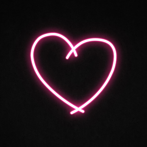 Sketch Heart Led Neon Sign