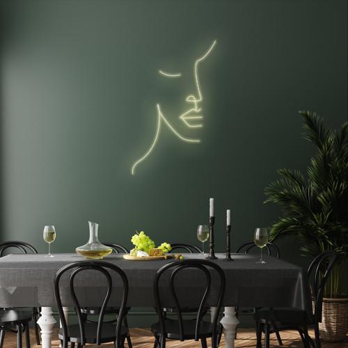 Femanine Face Line LED Canvas