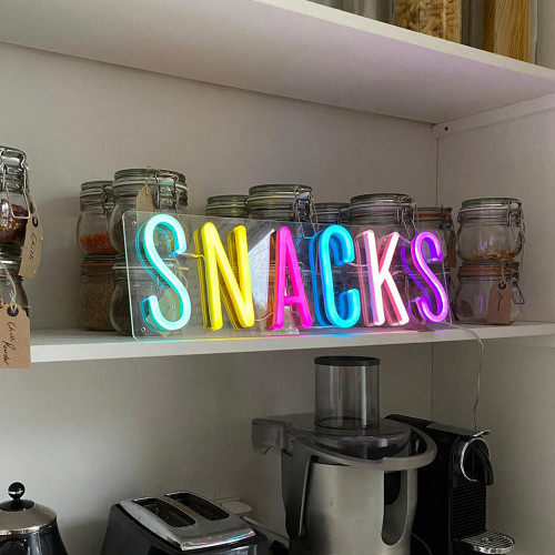 Snacks LED Neon Sign