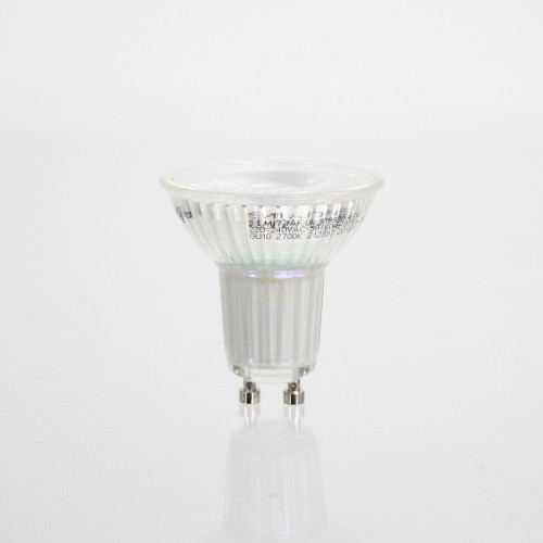 4W Glass GU10 LED Spotlight - 345 Lumen - Warm White (2700K)