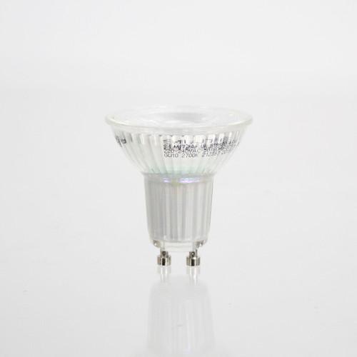 4W Glass GU10 LED Spotlight - 345 Lumen - Warm White (2700K)