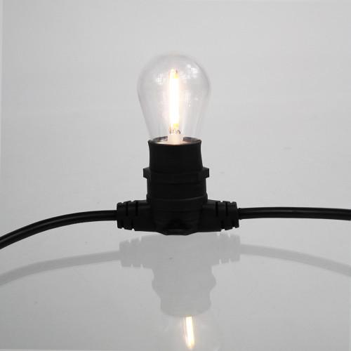 Clear S14 Festoon Bulb, 2W, 3000K Warm White, B22