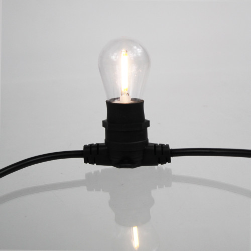 Clear S14 Festoon Bulb, 2W, 3000K Warm White, B22