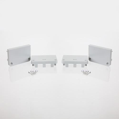 Set of 4 End Caps for 3043, Silver, Includes 16 Screws
