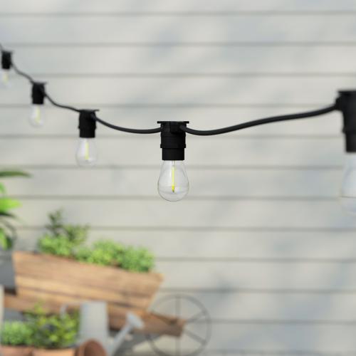 20 Metre, 40 Clear S14 Lamp Festoon String, 500mm Spacing with 40 bulbs, B22, Warm White1