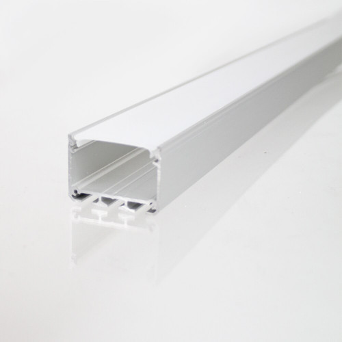 3043 APIS Connectable Suspendable Aluminium Channel, Silver, 3 Metre Length