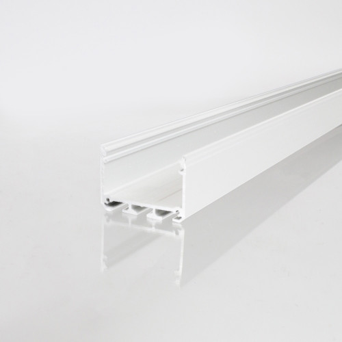 3043 APIS Connectable Suspendable Aluminium Channel, White, 2 Metre Length