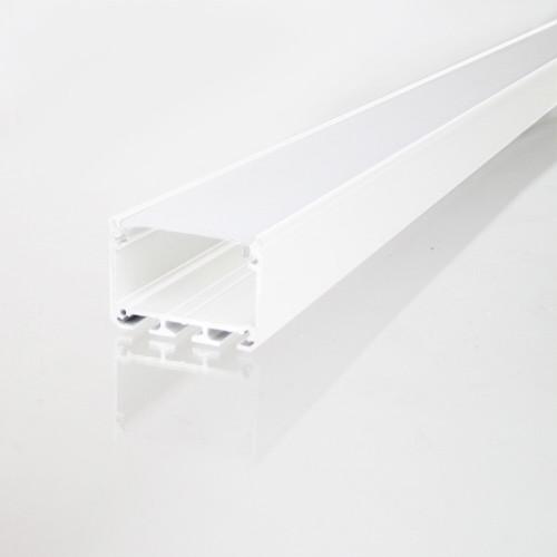 3043 APIS Connectable Suspendable Aluminium Channel, White, 3 Metre Length