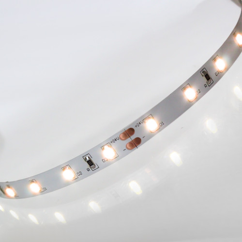 24V Eco Bright LED Tape, Very Warm White 2700K, 60 LEDs p/m, IP20 (Sold per Metre)
