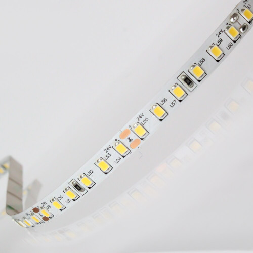 Easy to Use 12V 120 LEDs 9.6w p/m LED Tape, Very Warm White 2700K IP20 (Sold per Metre)