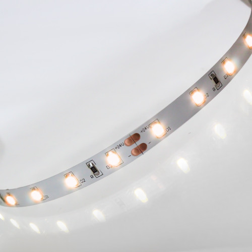 Easy to Use 24V 60 LEDs 4.8w p/m LED Tape, Flame White 2000K, IP20 (Sold per Metre)