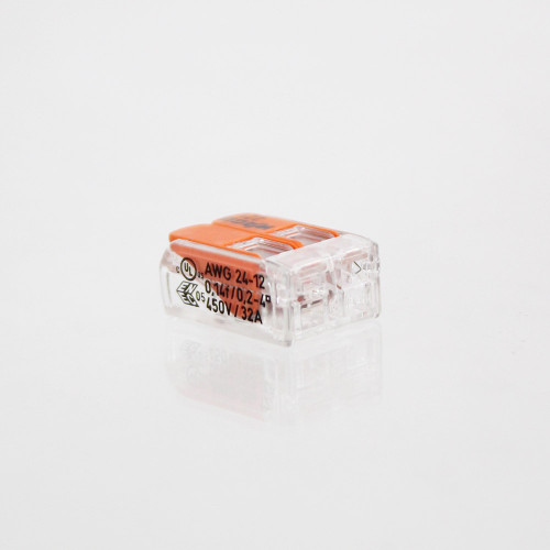 WAGO 221 Series Compact Lever Connectors 4mm, 2 Way - 10pk