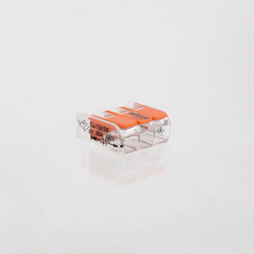 WAGO 221 Series Compact Lever Connectors 4mm, 3 Way - 10pk