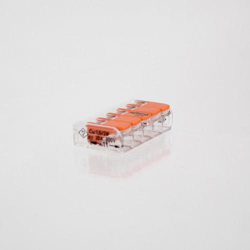 WAGO 221 Series Compact Lever Connectors 4mm, 5 Way - 10pk