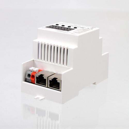 4 Channel DMX512 RJ45 DIN Rail Mountable DMX Decoder