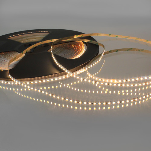 Easy to Use 24V 120 LEDs 9.6w p/m LED Tape, Warm White 3000K IP20 (50m Drum)