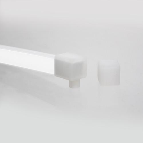 Silicone Endcap Kit for Midi 13x12 Neon Flex, Top/Bottom Outlet
