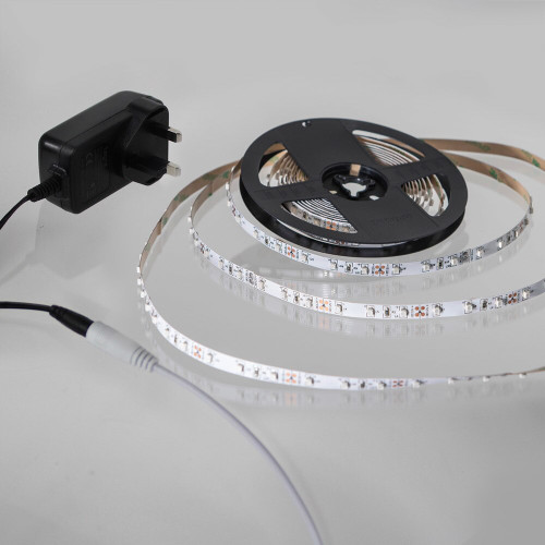 5 Metre Plug and Play LED Tape Kit, Cool White 6000K