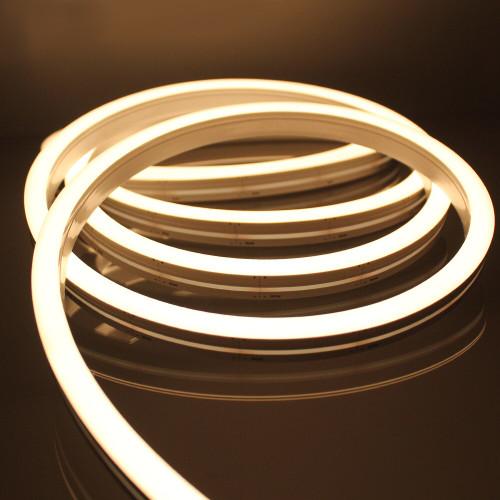 Top View 12x17mm LED Neon Flex, 24v, 10.6W P/M, 2700K Warm White, 10 Metre Kit