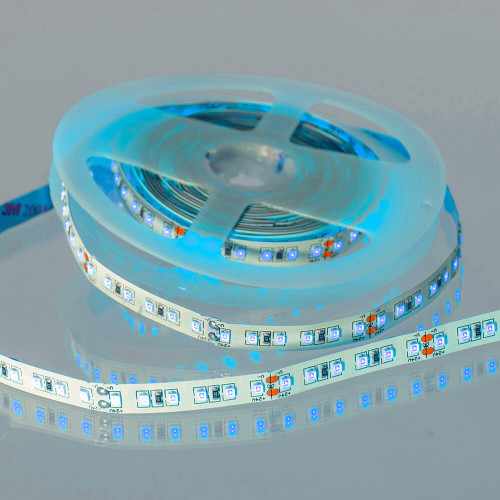12V Super Bright LED Tape, Blue, 18w p/m, IP20 (5m Reel)