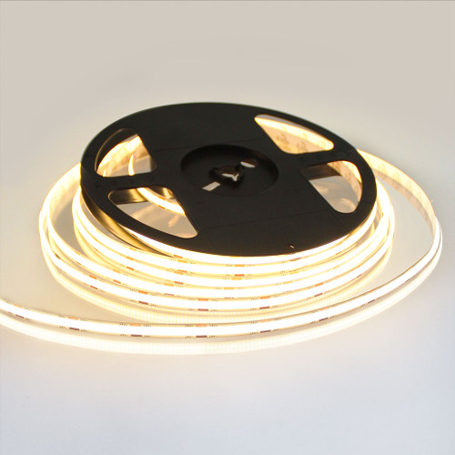 Pro Series Spot Free COB Continuous LED Tape, 24V, 10Wp/m 820LM, 90 CRI, Very Warm White 2700K, 5M reel